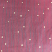 Used Curtain Pair Dark Red Modern Decorative Pattern