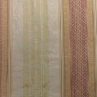 Used Curtain Pair Traditional Regal Decorative Pattern