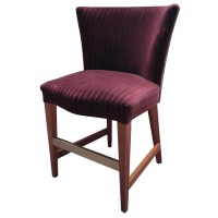 Dark red large upholstered stool