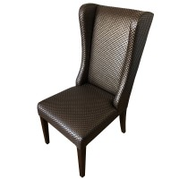 Used Restaurant Dining Chair with Faux Crocodile Skin Upholstery