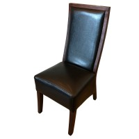 Black Leather Restaurant / Dining Chair