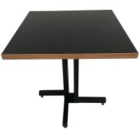 Thick Laminate Table Top With Black Metal Base