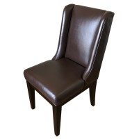 Used Restaurant Dining Chair in Brown Leather