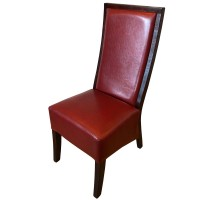 Red Leather Restaurant / Dining Chair
