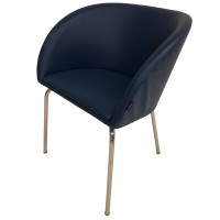 Satelliet Tub Chair in Blue Faux Leather