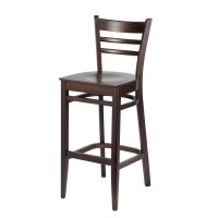 Ladder Back Bar Stool - Walnut