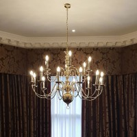 Large Ex Hotel Chandelier