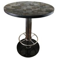 Large Granite Topped Poseur Table
