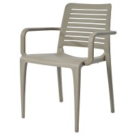 Lisbon Stackable Outdoor Armchair - Taupe