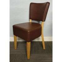 Belmont Side Chair - Brown / Light Leg