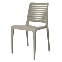 Lisbon Stackable Outdoor Sidechair - Taupe