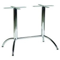 Lunar 4 Leg Twin Polished Finish Dining Height Table Base