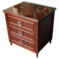 Used Luxury Glass Topped Bedside Cabinet