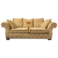 Large Luxury Ex Hotel Sofa - Cream Beige