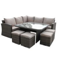Mauritius Natural Outdoor Sofa Set
