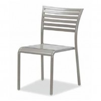 Latte Outdoor Aluminum Stacking Side Chair