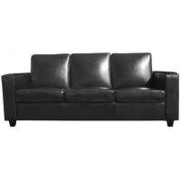 Black Covent 3 Seater Sofa