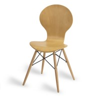 Mile Side Chair, Natural, D Frame