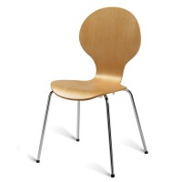 Mile Side Chair, Natural, Chrome Leg
