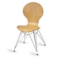 Mile Side Chair, Natural, N Frame