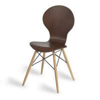 Mile Side Chair, Wenge, D Frame