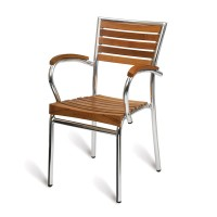 Paphos Outdoor Slatted Armchair Teak Solid Wood