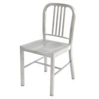 Navy Side Chair - Grey