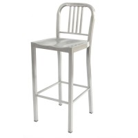 Navy High Stool Chair - Grey