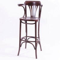 Bentwood Norma Bar Stool - Walnut