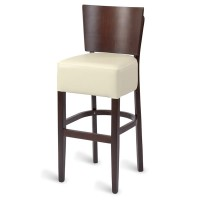 Hyde Luxe Solid Back Bar Stool - Ivory