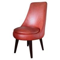 Orange Upholstered Lounge / Lobby Chair