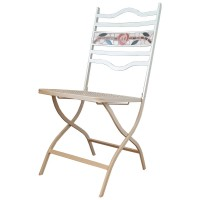 Clairemont Outdoor Folding Side Chair - Light