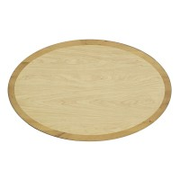 Oval Table Top with Solid Wood Surround