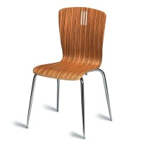 Pelon Natural Zebrano Side Chair