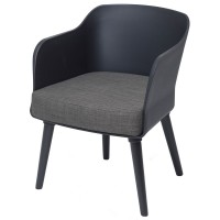 Poppy Tub Chair Black Tub with Black Legs