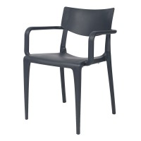 Porto Stackable Outdoor Armchair - Anthracite