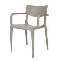 Porto Stackable Outdoor Armchair - Taupe