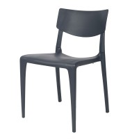 Porto Stackable Outdoor Sidechair - Anthracite