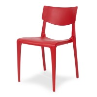 Porto Stackable Outdoor Sidechair - Cherry