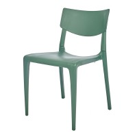 Porto Stackable Outdoor Sidechair - Green