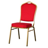 Burgundy Shield Back Aluminium Banqueting Chair
