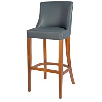 Repton Bar Stool Oak / Grey