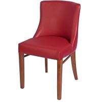 Repton Side Chair Oak / Burgundy