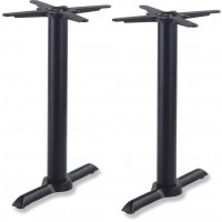 Black Samson B4 Dining Height Table Base Twin