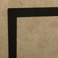 700mm x 700mm Sandstone with Dark Inner Border Werzalit Square Table Top