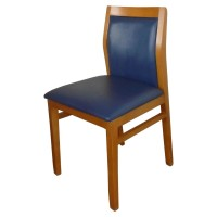 Solid Wood Chairs with Upholstered in Blue
