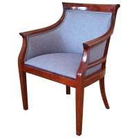 Used Solid Wood Upholstered Arm Chair