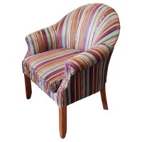 Ex Hotel Large Striped Tub Chair