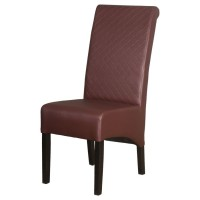 Taunton High Scroll Back Dining Chair - Wine