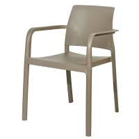 Taupe Stackable Outdoor Armchair